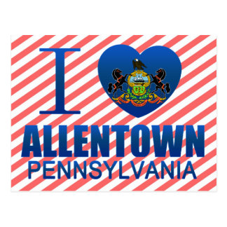 I Love Allentown, PA Postcard