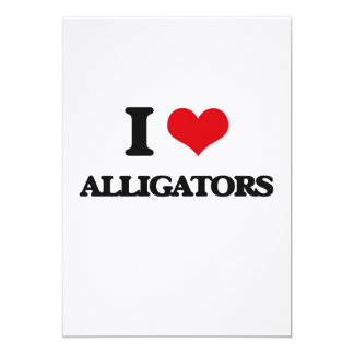"I love Alligators 5"" X 7"" Invitation Card"