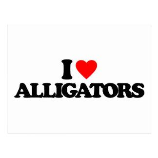 I LOVE ALLIGATORS POSTCARDS