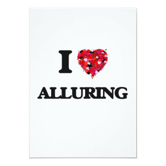 I Love Alluring 13 Cm X 18 Cm Invitation Card