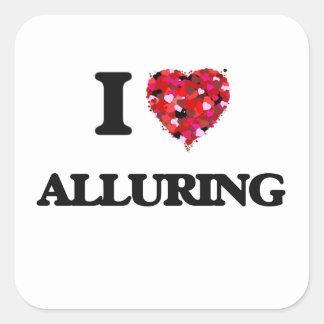 I Love Alluring Square Sticker