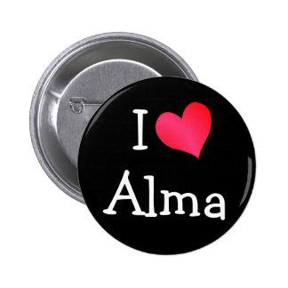 I Love Alma Button