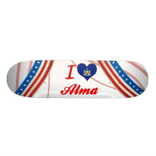 I Love Alma, New York Skateboard Deck