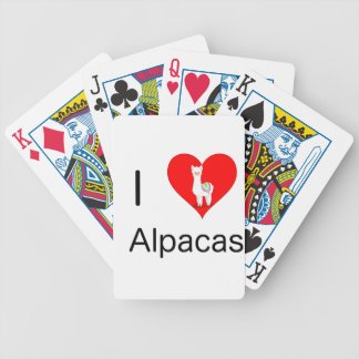 I love alpacas bicycle playing cards