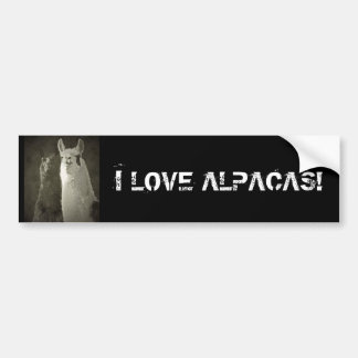 I Love Alpacas! Bumper Sticker