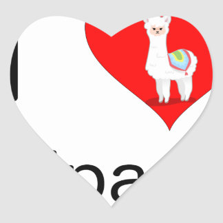 I love alpacas heart sticker