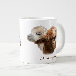 I Love Alpacas Large Mugs