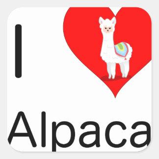 I love alpacas square sticker
