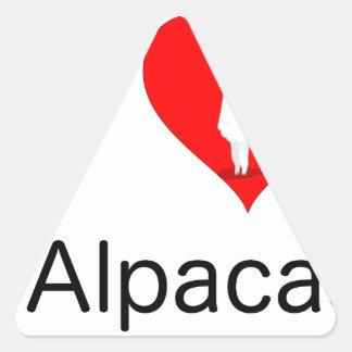 I love alpacas triangle sticker