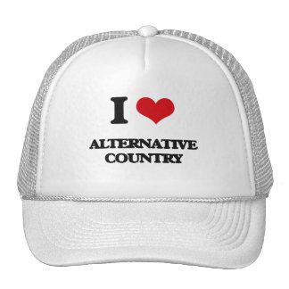I Love ALTERNATIVE COUNTRY Mesh Hats