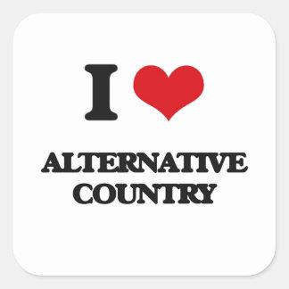 I Love ALTERNATIVE COUNTRY Square Sticker