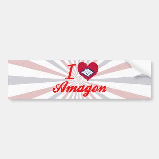 I Love Amagon, Arkansas Bumper Sticker