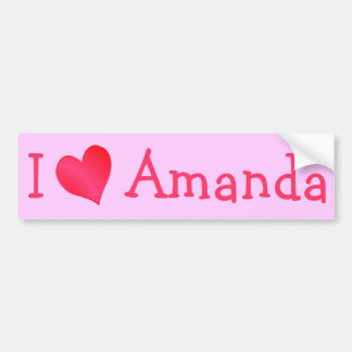 I Love Amanda Bumper Sticker