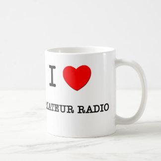 I LOVE AMATEUR RADIO BASIC WHITE MUG