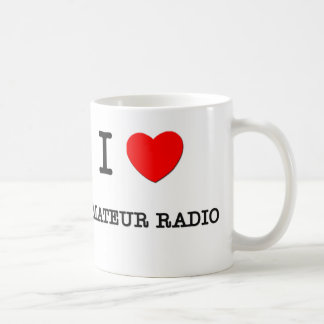 I LOVE AMATEUR RADIO COFFEE MUG