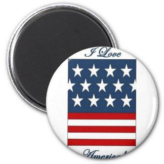 I_Love_America 6 Cm Round Magnet