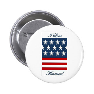 I_Love_America Pinback Buttons