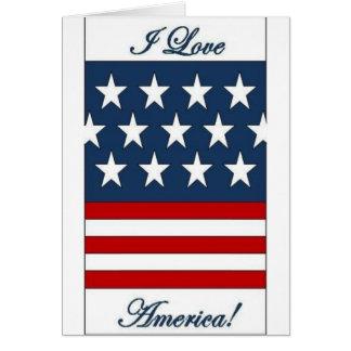 I_Love_America Greeting Card