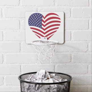 I LOVE AMERICA MINI BASKETBALL HOOP