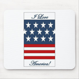 I_Love_America Mouse Pads