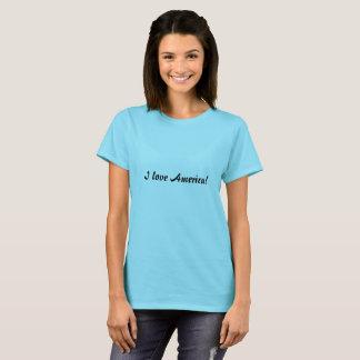 I love America simple script tee shirt