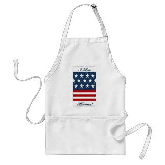 I_Love_America Standard Apron