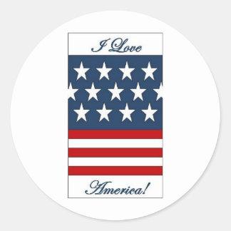 I_Love_America Round Sticker