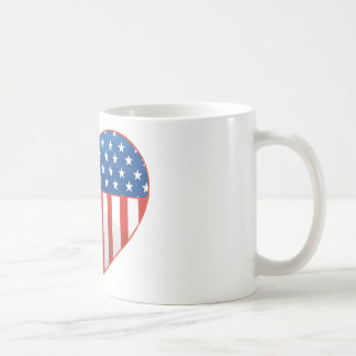 I Love America - United States Flag Heart Coffee Mug