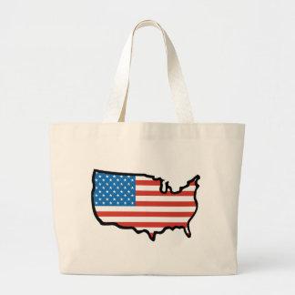 I Love America - United States Flag Jumbo Tote Bag