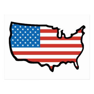 I Love America - United States Flag Post Card