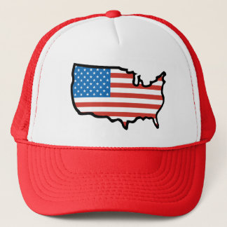 I Love America - United States Flag Trucker Hat