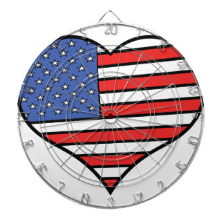I love America -  United States of America pride Dartboard