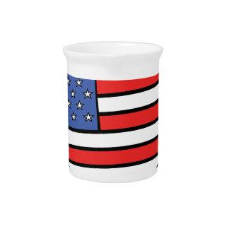 I love America -  United States of America pride Pitchers