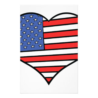 I love America -  United States of America pride Stationery
