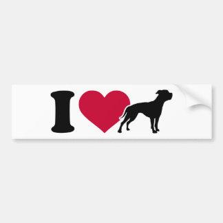 I love American Bulldogs Bumper Stickers