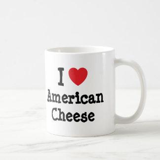 I love American Cheese heart T-Shirt Coffee Mug