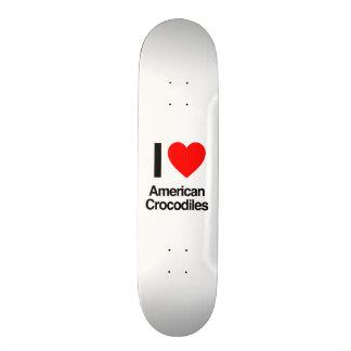 i love american crocodiles custom skate board