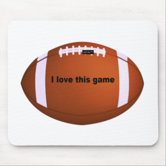 I love American footballs.png Mouse Pad