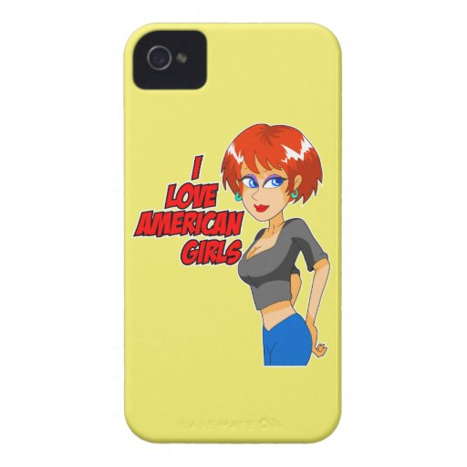 I Love American Girls BlackBerry Phone Case Case-Mate Blackberry Case
