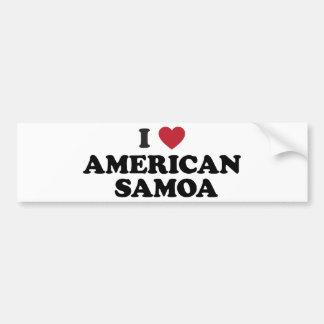 I Love American Samoa Bumper Sticker