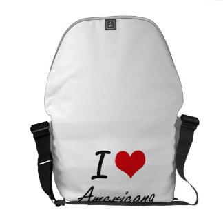 I Love Americana Artistic Design Messenger Bags
