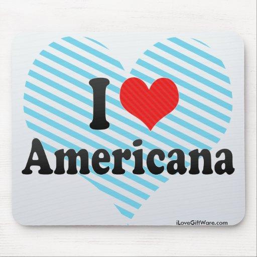 I Love Americana Mouse Pad