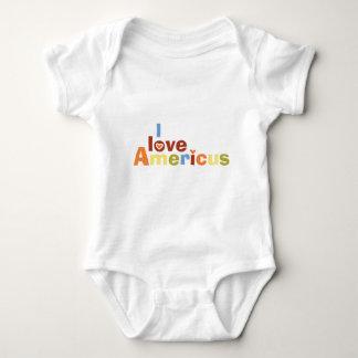 I love Americus MultiColor Baby Bodysuit