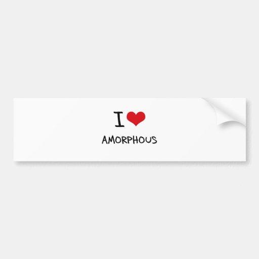 I Love Amorphous Bumper Sticker