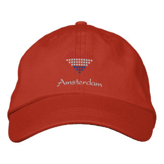 I Love Amsterdam Cap - Dutch Flag Hat Embroidered Hats