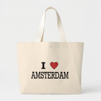 I Love Amsterdam Large Tote Bag