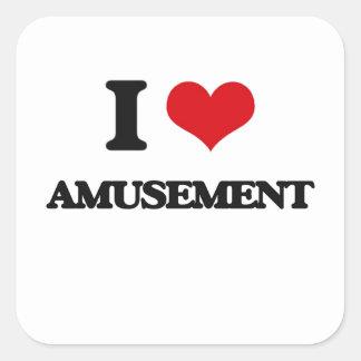 I Love Amusement Square Sticker