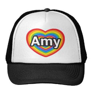 I love Amy. I love you Amy. Heart Cap