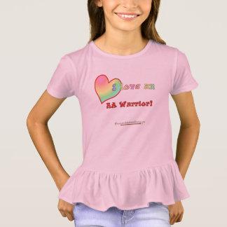I love an RA Warrior little girl ruffle T T-Shirt