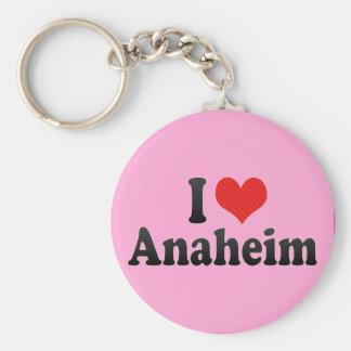 I Love Anaheim Basic Round Button Key Ring